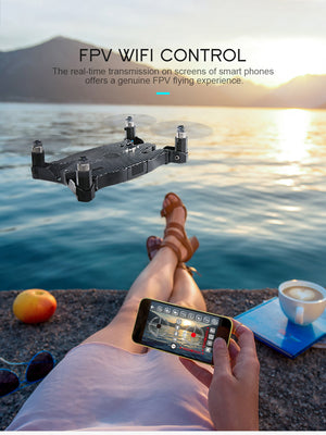 H49 SOL Quadcopter WIFI FPV Ultrathin Foldable Selfie Drone with 720P Camera Altitude Hold Mode RTF