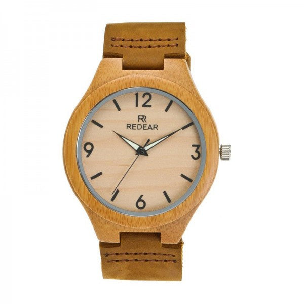 Men Wooden Watch Paragraph Bamboo Shell Digital Luminous Needle Wrist Watches