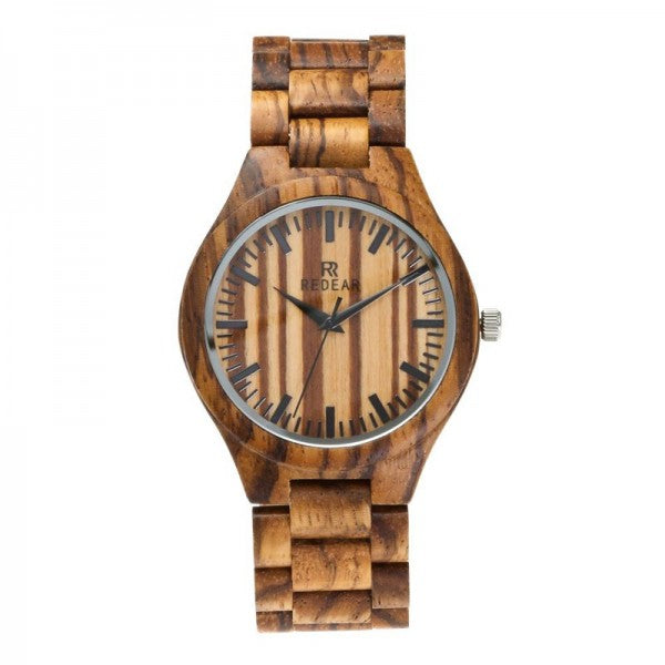 Mens Wooden Watch Analog Quartz Lightweight Handmade Wood Wrist Watch