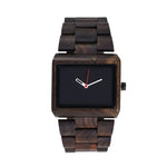 Men's Wrist Wooden Watch Black Sandalwood Japan Movement Gift