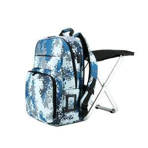 BigTron Camouflage Backpack Stool Combo