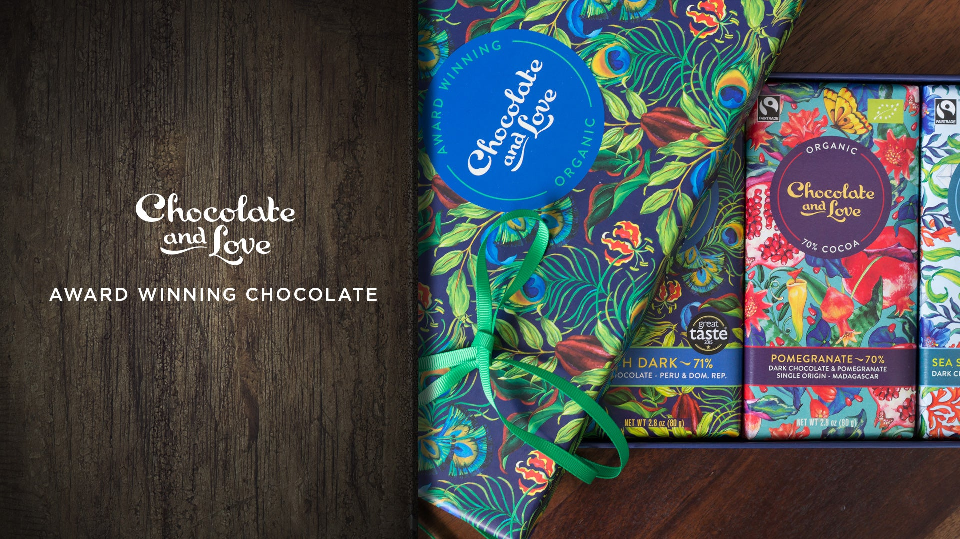 Chocolate And Love Premium Organic Fairtrade Chocolate