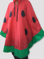 Watermelon Rain Poncho Red