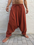 Boho Pants Cotton with Pockets Dark Orange