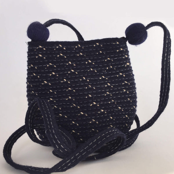 Blue Cross Body Pouch Bag