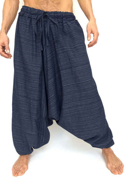 Blue Line Pattern Samurai Pants