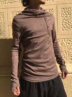 Turtle Neck Top Brown
