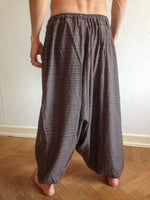 Brown Line Pattern Samurai Pants