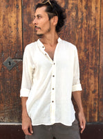 Coconut Button Shirt in Natural Light Cotton