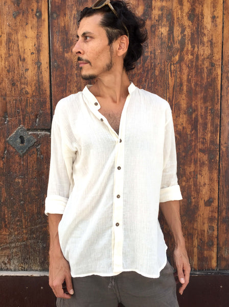 Coconut Button Shirt in Natural Light Cotton - Seconds