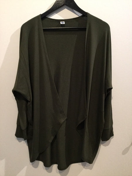Dark Olive Green Cardigan