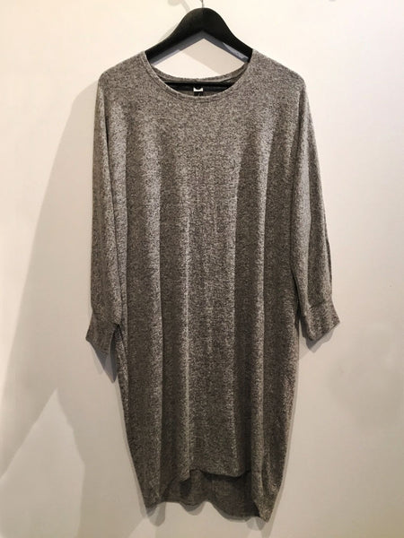Soft Stretchy Dress Gray