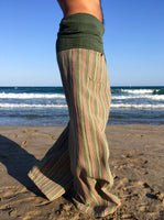 Green Forrest Raw Cotton Thai Fisherman Pants