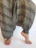 Harem Pants Black and White Pattern