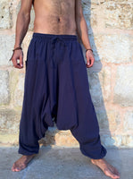 Harem Pants Cotton with Pockets Midnight Blue
