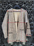 Mottled Knitted Jacket Camel and Black