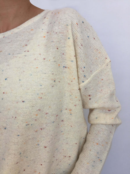 Knitted Top Vanilla with Rainbow sprinkles
