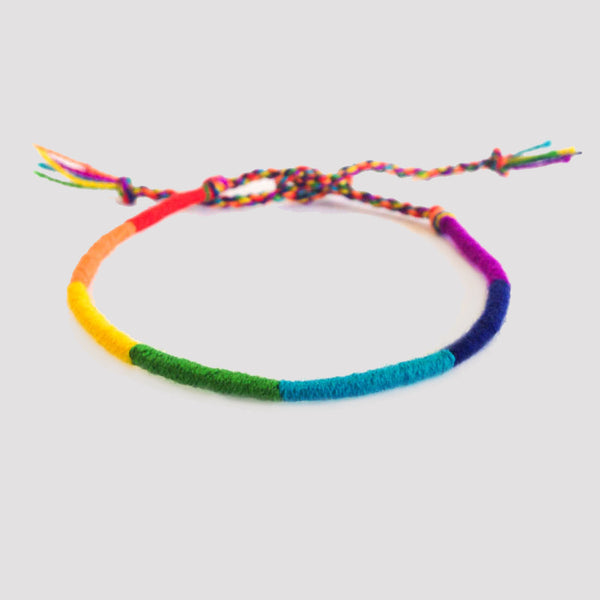 Knotted Bracelet Rainbow