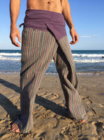 Mauve Raw Cotton Thai Fisherman Pants