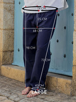 Midnight Blue Cotton Drawstring Pants