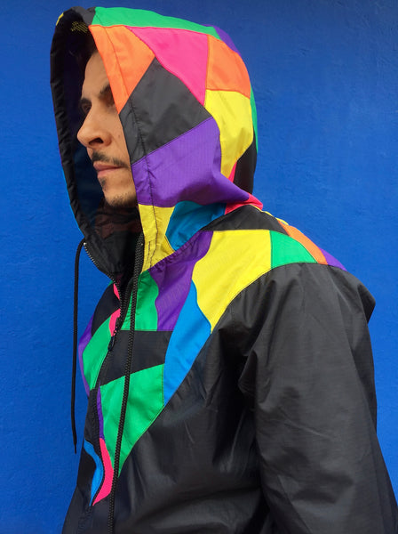 Patchwork Windcheater Jacket
