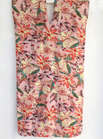 Peach Pink Floral Print Kaftan Dress