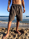 Raw Cotton Shorts Brown