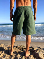 Raw Cotton Shorts Green