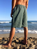 Raw Cotton Shorts Sage