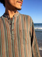 Raw Cotton Pinstripe Kurta