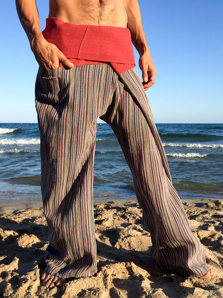 Red Dragon Raw Cotton Thai Fisherman Pants