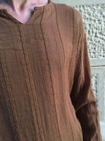 Striped Short Walnut Kurta