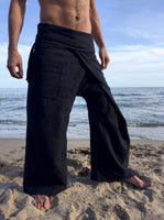 Thai Fisherman Pants Black Pinstripe