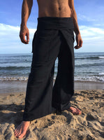 Thai Fisherman Pants Black Pinstripe - Seconds