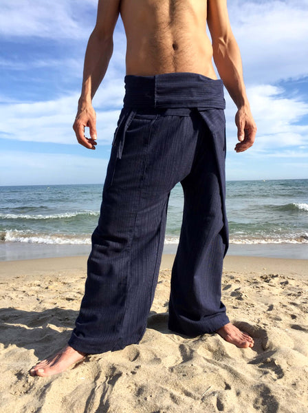 Thai Fisherman Pants Blue Pinstripe