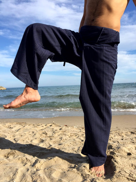 Thai Fisherman Pants Dark Blue Pinstripe