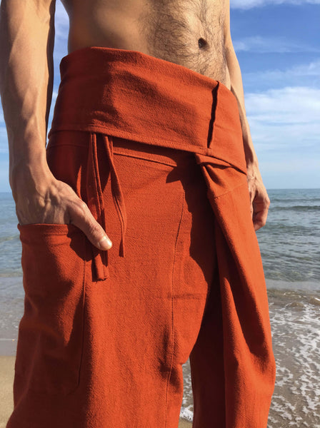 Thai Fisherman Pants Muang Cotton Dark Orange