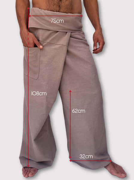 Thai Fisherman Pants Muang Cotton Latte - Seconds