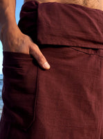 Thai Fisherman Pants Cotton Brown - Seconds