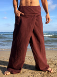 Thai Fisherman Pants Muang Cotton Brown