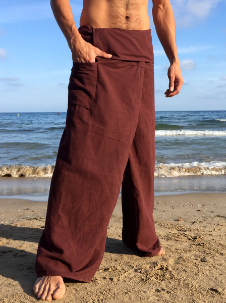 Thai Fisherman Pants Cotton Brown