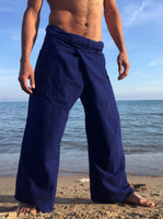 Thai Fisherman Pants Muang Cotton Electric Blue - Seconds