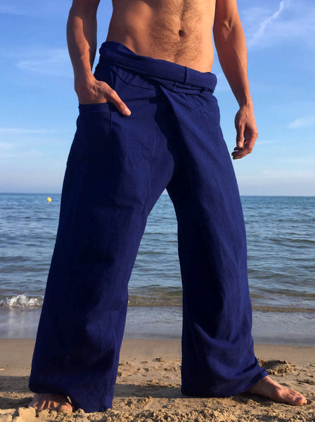 Thai Fisherman Pants Muang Cotton Electric Blue