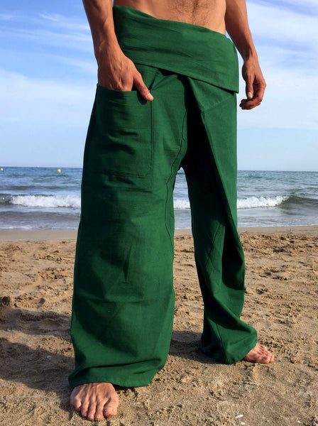 Thai Fisherman Pants Muang Cotton Green - Seconds