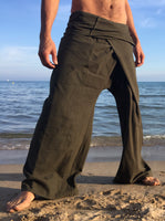 Thai Fisherman Pants Muang Cotton Olive Green