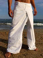 Thai Fisherman Pants Muang Cotton White