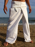 Thai Fisherman Pants Muang Cotton White - Seconds