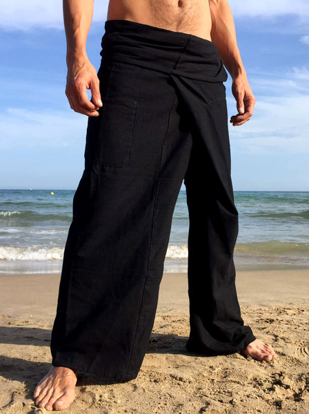 Thai Fisherman Pants Pah Muang Cotton Black