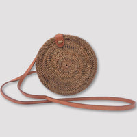 Hand Woven Rattan Bag with Batik Lining