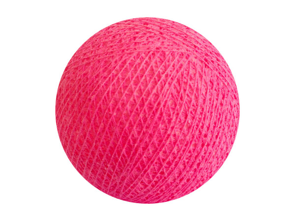 Bindi Cotton Ball Lantern Bright Pink